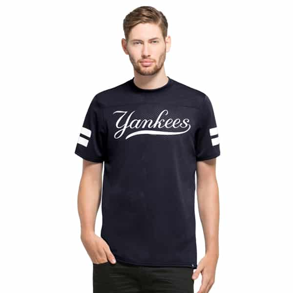 New York Yankees Hang Time T-Shirt Slim Fit Fall Navy 47 Brand