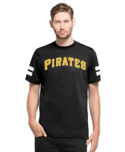 Pittsburgh Pirates Hang Time T-Shirt Slim Fit Jet Black 47 Brand