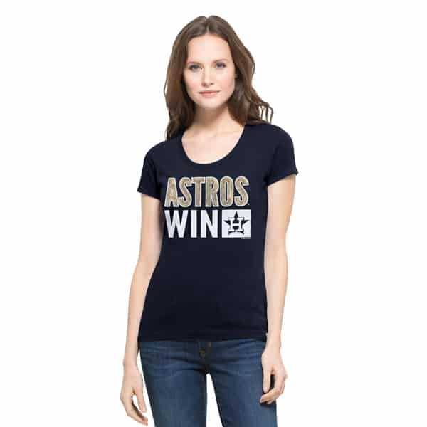Houston Astros Sparkle Scoop Womens Fall Navy 47 Brand Shirt