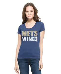 New York Mets Sparkle Scoop Womens Bleacher Blue 47 Brand