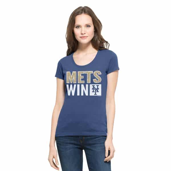 New York Mets Sparkle Scoop Womens Bleacher Blue 47 Brand