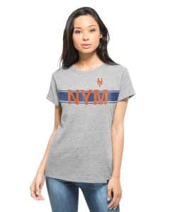 New York Mets Super Hero T-Shirt Womens Vintage Grey 47 Brand