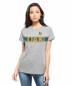 Oakland Athletics Super Hero T-Shirt Womens Vintage Grey 47 Brand