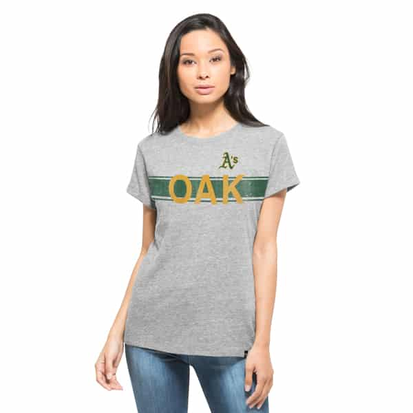 Oakland Athletics Super Hero T-Shirt Womens Vintage Grey 47 Brand