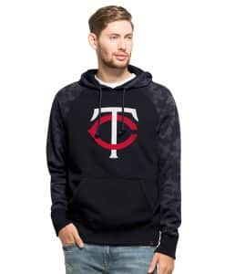 Minnesota Twins Stealth Hoodie Mens Fall Navy 47 Brand
