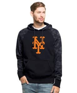 New York Mets Stealth Hoodie Mens Fall Navy 47 Brand