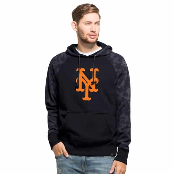 New York Mets Stealth Hoodie Mens Fall Navy 47 Brand