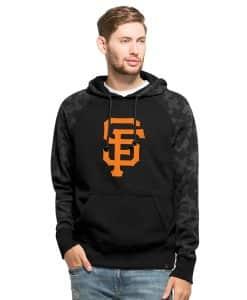 San Francisco Giants Stealth Hoodie Mens Jet Black 47 Brand