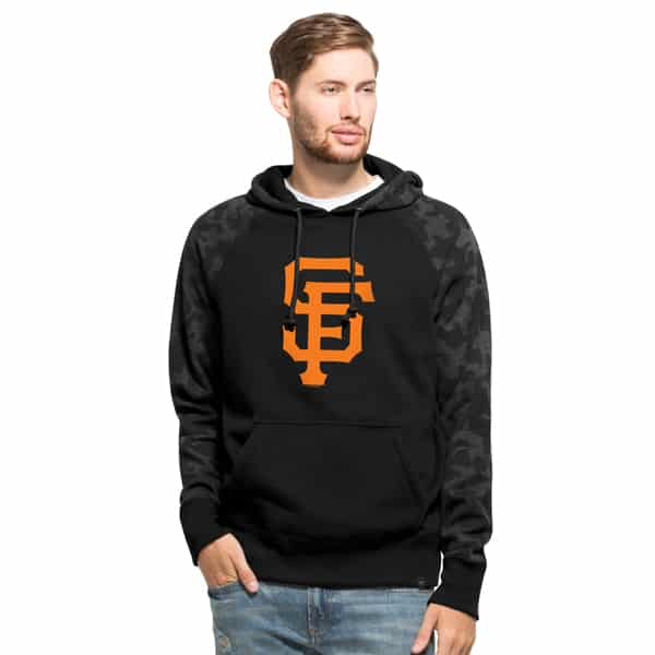 San Francisco Giants Stealth Hoodie Mens Jet Black 47 Brand