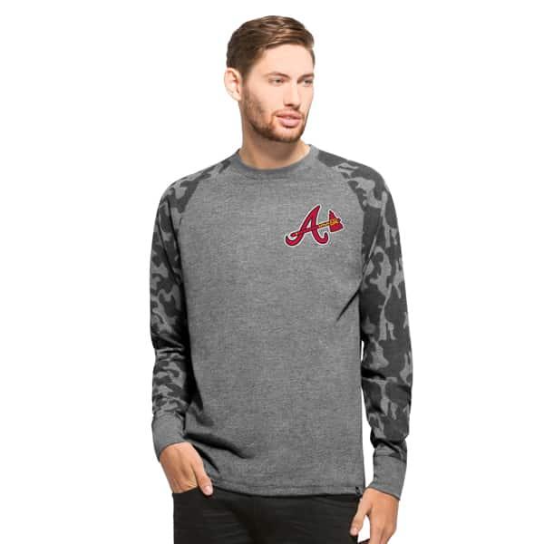 Atlanta Braves Recon Camo Raglan Mens Tarmac 47 Brand
