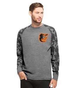 Baltimore Orioles Recon Camo Raglan Mens Tarmac 47 Brand