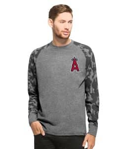 Los Angeles Angels Recon Camo Raglan Mens Tarmac 47 Brand