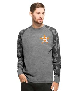 Houston Astros Recon Camo Raglan Mens Tarmac 47 Brand Long Sleeve Shirt