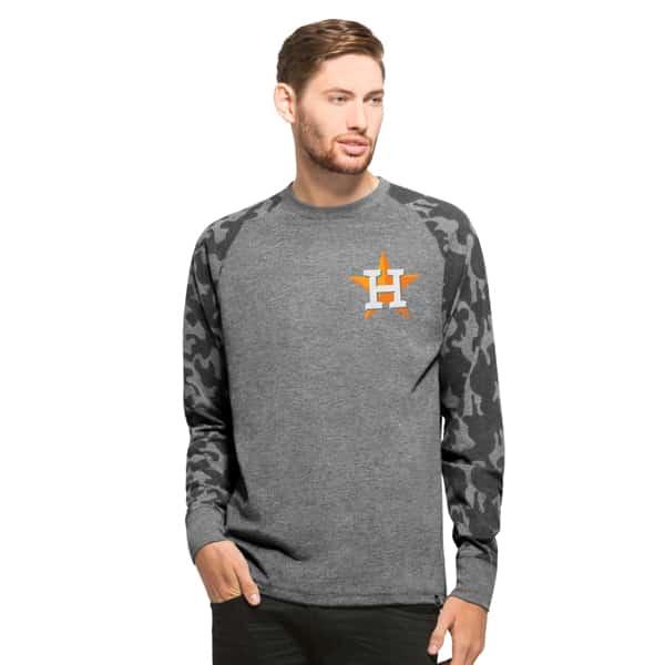 Houston Astros Recon Camo Raglan Mens Tarmac 47 Brand Long Sleeve Shirt