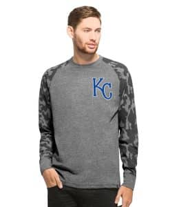 Kansas City Royals Recon Camo Raglan Mens Tarmac 47 Brand Long Sleeve Shirt
