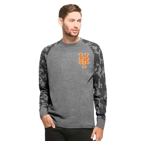 New York Mets Recon Camo Raglan Mens Tarmac 47 Brand