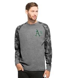 Oakland Athletics Recon Camo Raglan Mens Tarmac 47 Brand