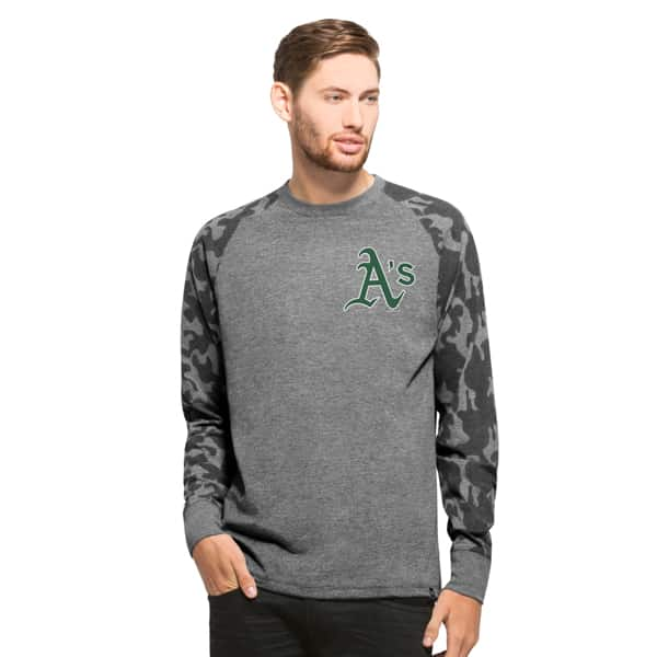 Oakland Athletics Recon Camo Raglan Mens Tarmac 47 Brand
