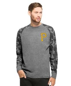 Pittsburgh Pirates Recon Camo Raglan Mens Tarmac 47 Brand