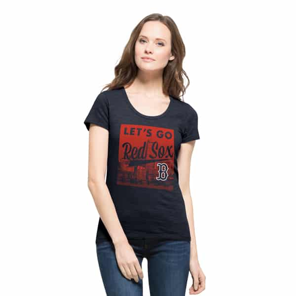 Boston Red Sox Crosstown Scrum Scoop T-Shirt Womens Fall Navy 47 Brand