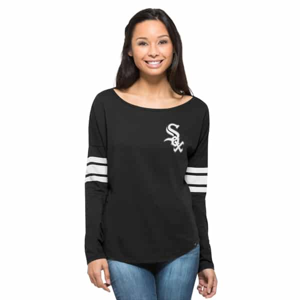 Chicago White Sox Ultra Courtside T-Shirt Womens Jet Black 47 Brand