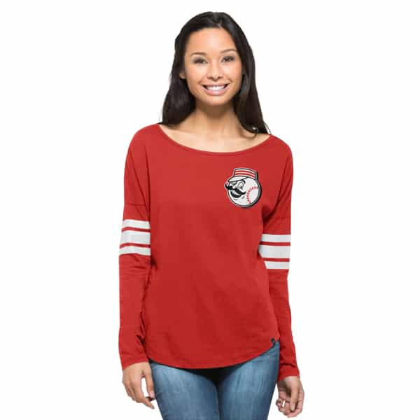Cincinnati Reds Ultra Courtside T-Shirt Womens Rebound Red 47 Brand