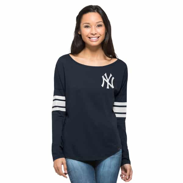 New York Yankees Ultra Courtside T-Shirt Womens Fall Navy 47 Brand ec5667271df