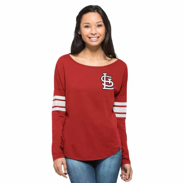 St. Louis Cardinals Ultra Courtside T-Shirt Womens Rebound Red 47 Brand