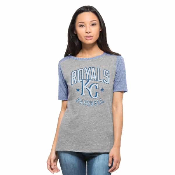 Kansas City Royals Empire T-Shirt Womens Vintage Grey 47 Brand