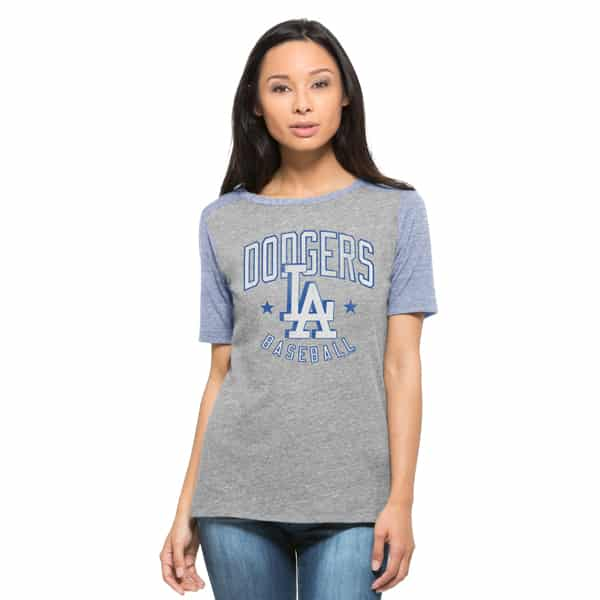 Los Angeles Dodgers Empire T-Shirt Womens Vintage Grey 47 Brand