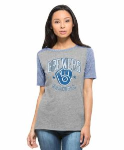 Milwaukee Brewers Empire T-Shirt Womens Vintage Grey 47 Brand