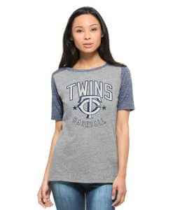 Minnesota Twins Empire T-Shirt Womens Vintage Grey 47 Brand
