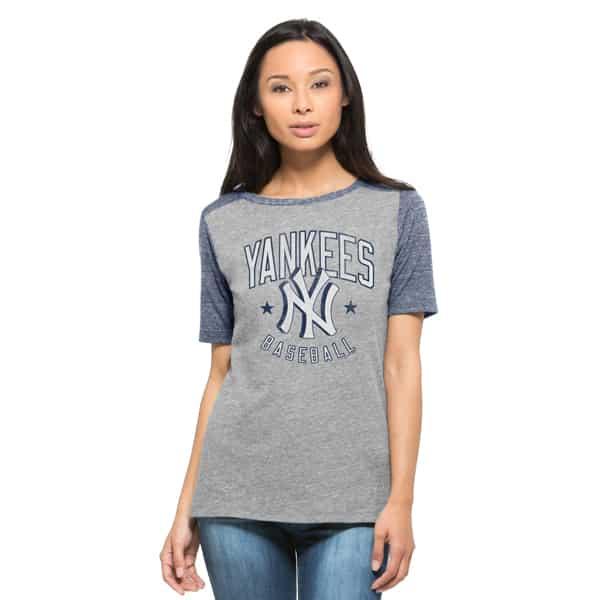 New York Yankees Empire T-Shirt Womens Vintage Grey 47 Brand