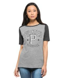 Pittsburgh Pirates Empire T-Shirt Womens Vintage Grey 47 Brand