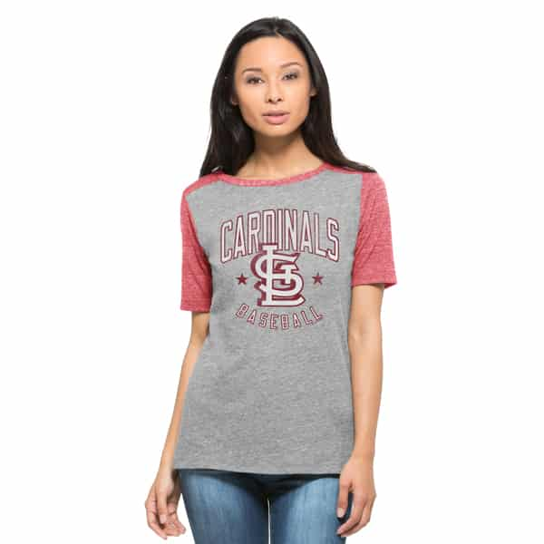 St. Louis Cardinals Empire T-Shirt Womens Vintage Grey 47 Brand