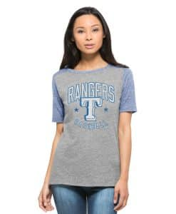 Texas Rangers Empire T-Shirt Womens Vintage Grey 47 Brand