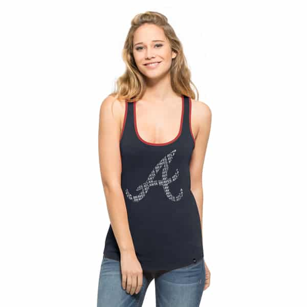 Atlanta Braves Clutch Tank Top Womens Fall Navy 47 Brand