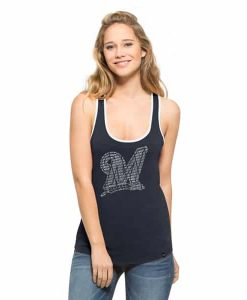 Milwaukee Brewers Clutch Tank Top Womens Fall Navy 47 Brand