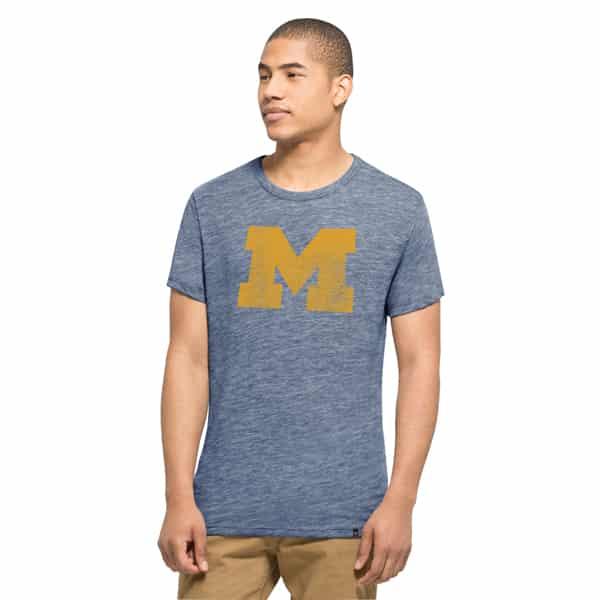 Michigan Wolverines Tri-State T-Shirt Mens Nightfall 47 Brand
