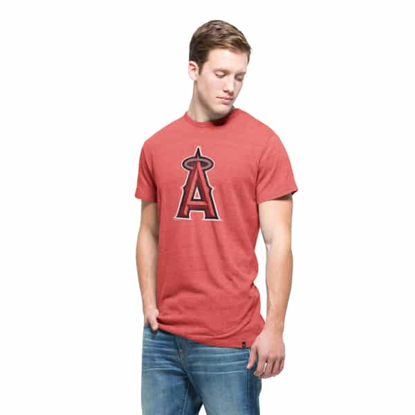 Los Angeles Angels Tri-State T-Shirt Mens Cranberry 47 Brand