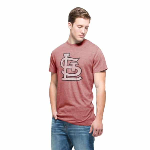 St. Louis Cardinals Tri-State T-Shirt Mens Lava Red 47 Brand
