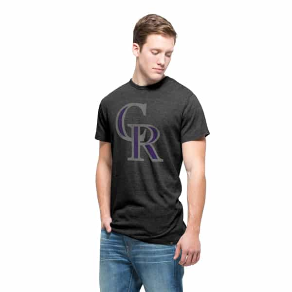 Colorado Rockies Tri-State T-Shirt Mens Carbon Black 47 Brand