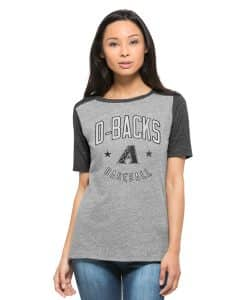 Arizona Diamondbacks Empire T-Shirt Womens Vintage Grey 47 Brand