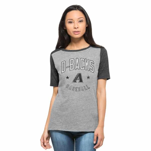 Arizona Diamondbacks Empire T-Shirt Womens Vintage Grey 47 Brand