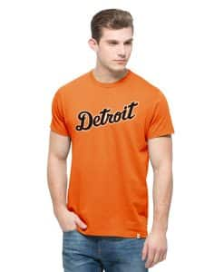 Detroit Tigers Knockaround Flanker T-Shirt Mens Carrot 47 Brand