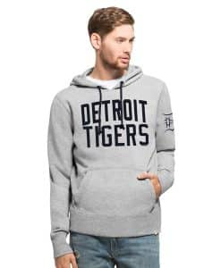 Detroit Tigers Gamebreak Cross-Check Pullover Hoodie Mens Slate Grey 47 Brand