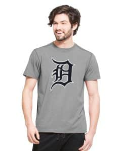 Detroit Tigers High Point T-Shirt Mens Shift Grey 47 Brand
