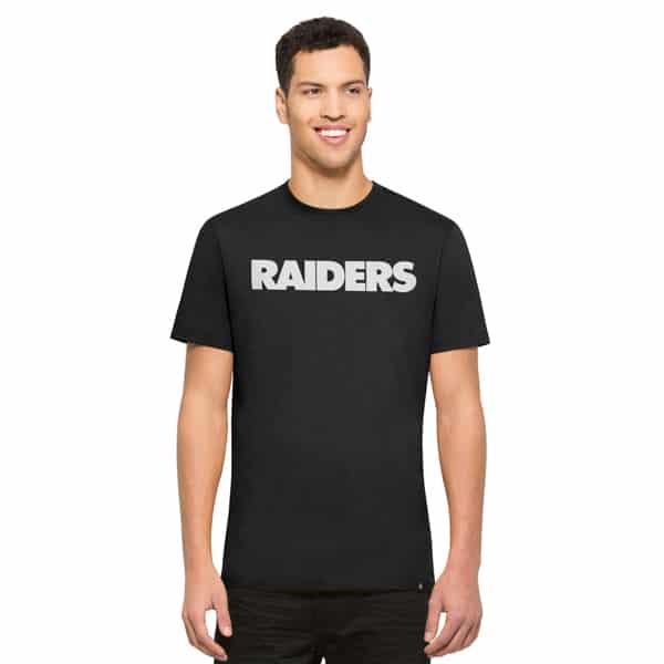 Oakland Raiders Crosstown Mvp T-Shirt Mens Jet Black 47 Brand
