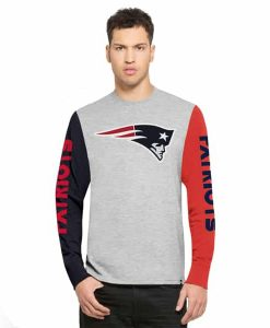 New England Patriots Circuit Ls T-Shirt Mens Og Grey 47 Brand
