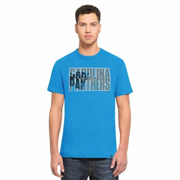 Carolina Panthers Scrum T-Shirt Mens Glacier Blue 47 Brand